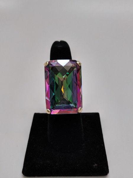 65 Carat Mystic Topaz Ring