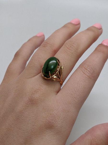 Antique Dark Green Jade Ring