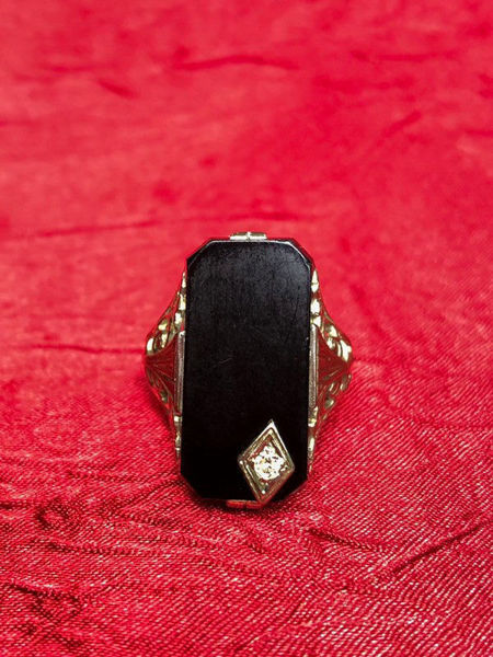 Art Deco Onyx Ring