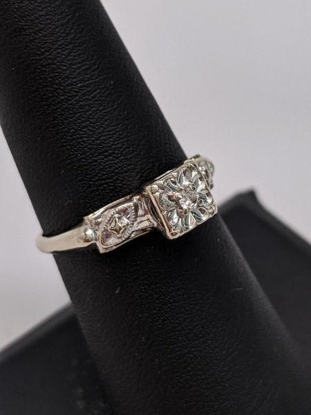 Art Nouveau Engagement Ring