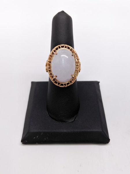 Vintage White Jade Ring