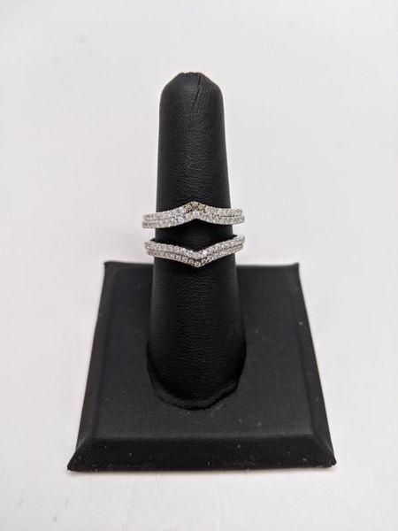 White and Champagne Diamond Wrap
