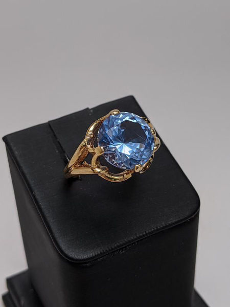 Picture of Cathedral Blue Topaz Ring