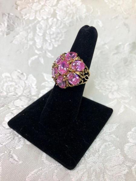 Vintage Pink Ice Ring