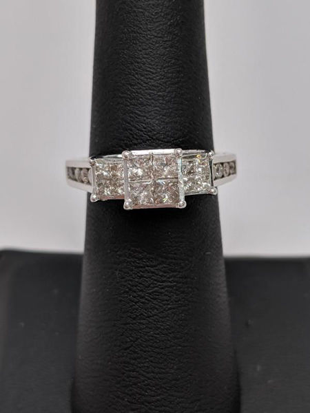 Picture of CLEARANCE Princess Cluster Engagement Ring