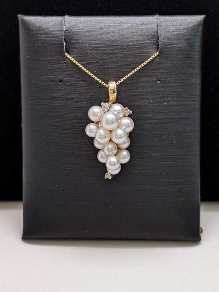 Vintage Grape Pearl Cluster Necklace