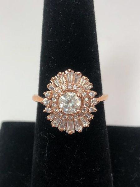 Vintage Inspired Baguette Ring