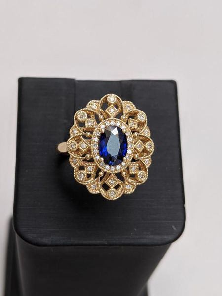 Vintage Inspired Sapphire Ring
