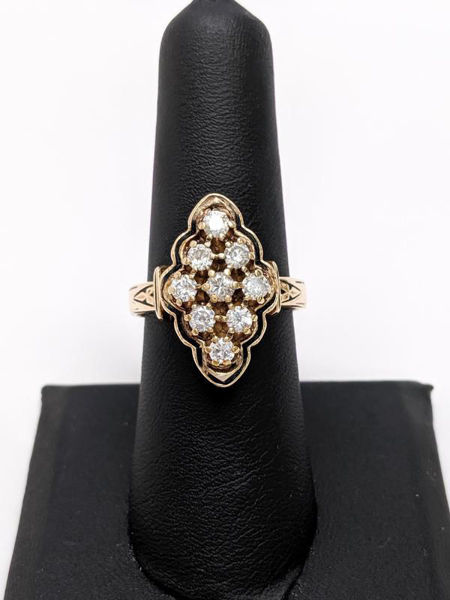 Picture of Vintage Cluster Diamond Ring