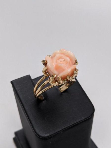 Vintage Coral Flower Ring