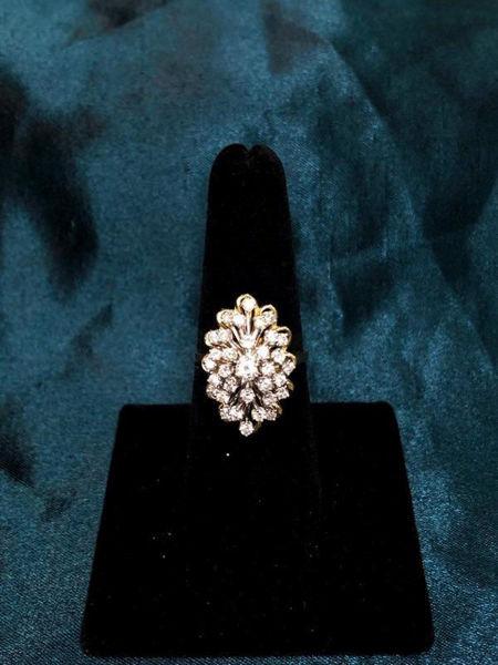 Vintage Diamond Cluster Ring