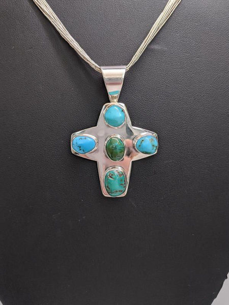 Turquoise Cross Necklace