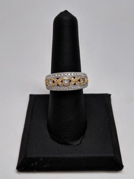 Two Tone Diamond Ring