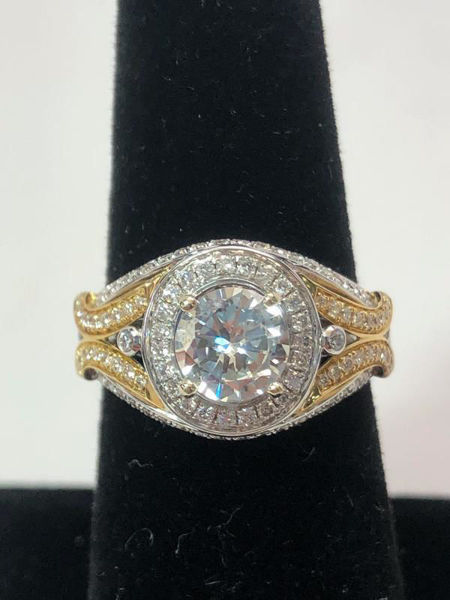 Two Tone Engagement Ring