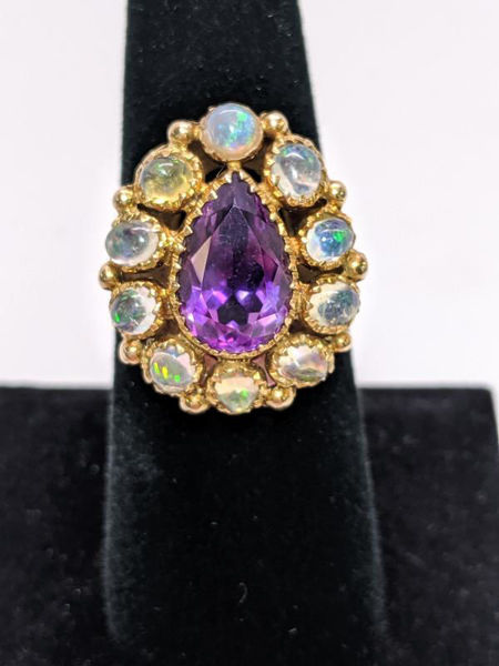 Victorian Amethyst and Opal Ring