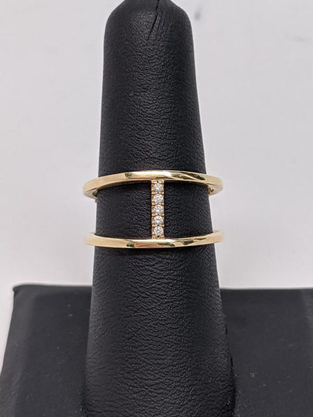 Picture of Diamond Negative Space Ring