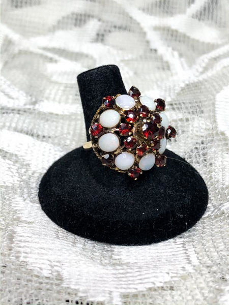 Picture of Garnet and Opal Harem Ring