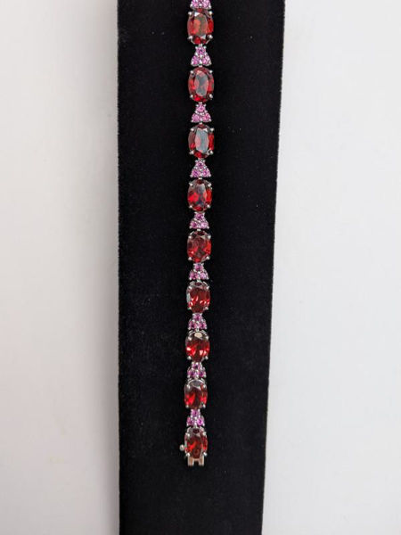 Picture of Garnet and Rhodolite Bracelet