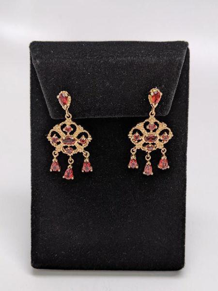Picture of Garnet Chandelier Earrings