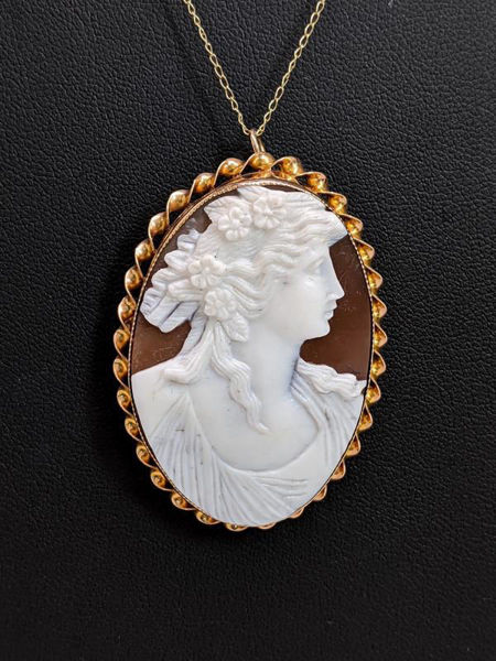 Picture of Gold and Cameo Necklace / Brooch / Pendant
