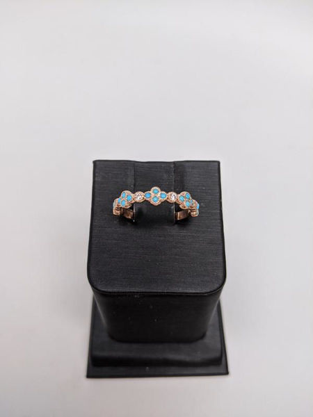 Turquoise and Rose Gold Band