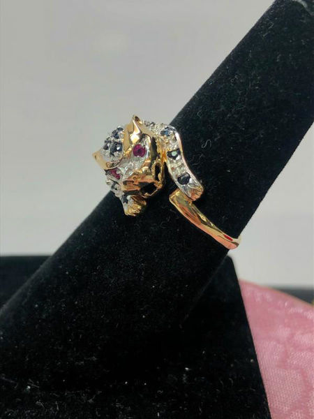 Sapphire and Ruby Cheetah Ring