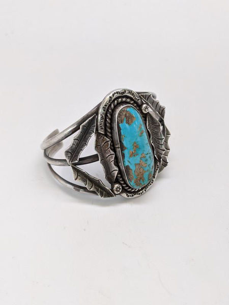 Signed Turquoise Cuff