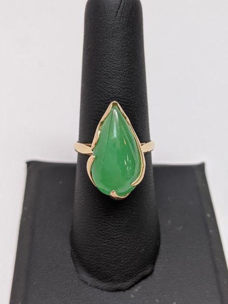 Green Apple Jade Ring