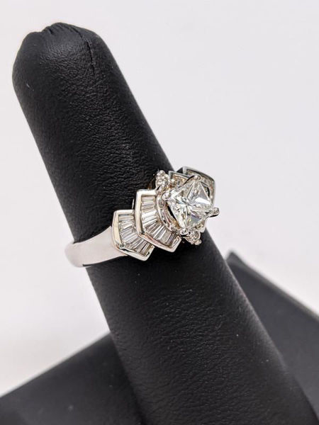 Princess Cut and Baguette Ring