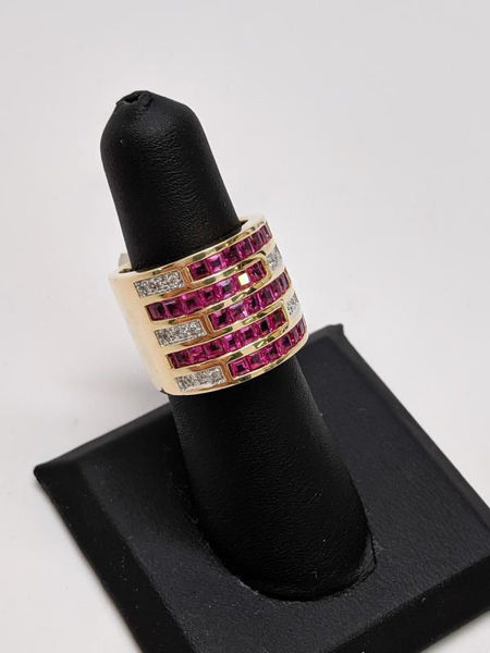 Ruby and Diamond Statement Ring