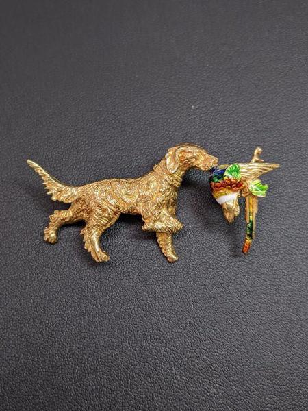 Picture of Irish Setter Bird Dog Brooch