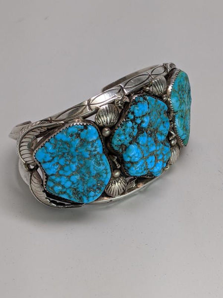 Picture of J. TSO Signed Turquoise Cuff