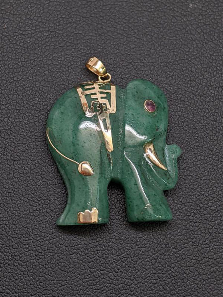 Picture of Jade and Gold Pendant