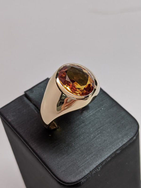 Picture of Large Citrine Bezel Ring