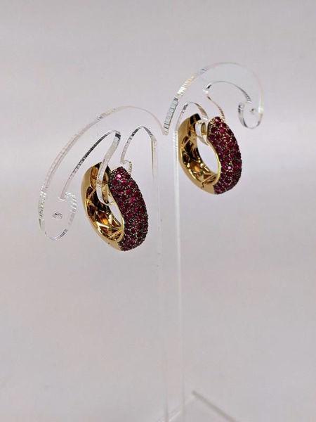 Picture of LeVian Ruby Hoop Earrings