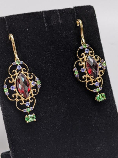 Picture of LeVian Vintage Inspired Gemstone Earrings
