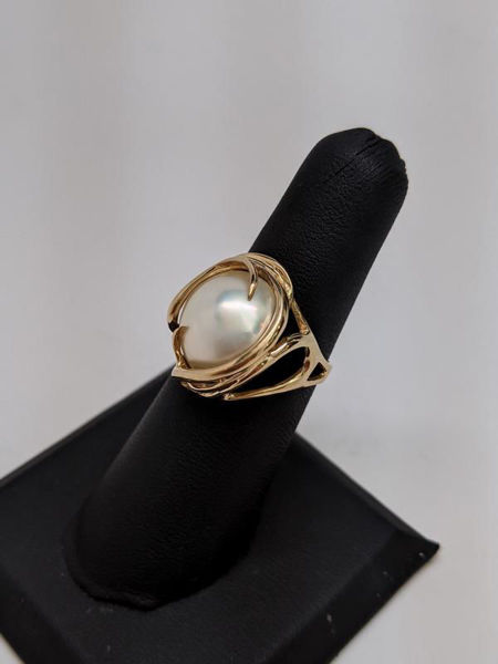 Picture of Mabe Pearl Ring