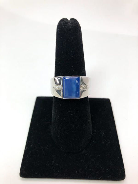Picture of Men's Cabochon Sapphire Ring