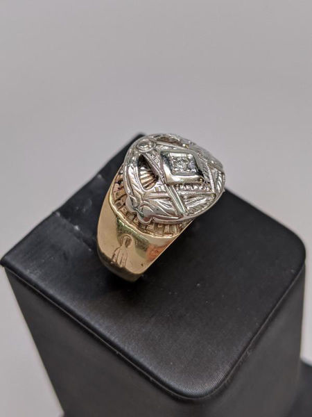 Picture of Men's Masonic Diamond Ring