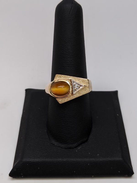 Picture of Men's Tigers Eye Ring
