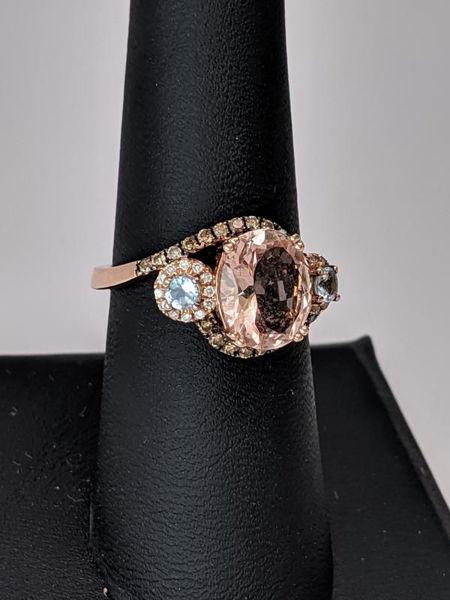 Picture of Morganite and Aquamarine LeVian Ring