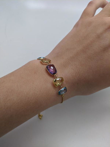 Picture of Multi-Gemstone Adjustable Bracelet