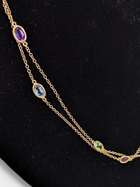 Picture of Multi-Gemstone Wrap Necklace