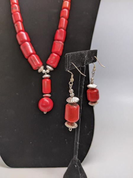 Picture of Navajo Red Coral Jewelry Set