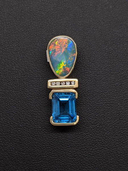 Picture of Opal and Blue Topaz Pendant