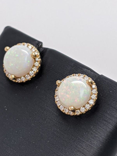 Picture of Opal and Diamond Earrings