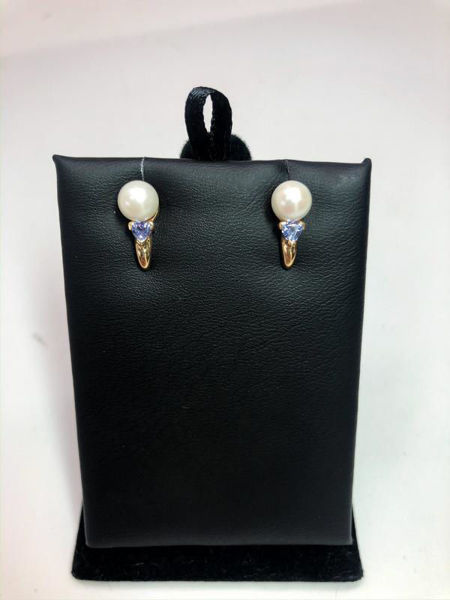 Picture of Pearl and Tanzanite Earrings