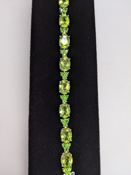 Picture of Peridot and Diopside Bracelet